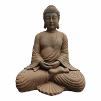 Moe's Home Furniture Stone Finish Sitting Buddha
