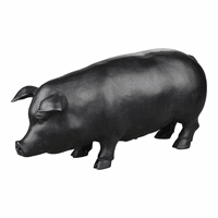Moe's Home Furniture Swine Sculpture Black