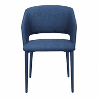 Moe's Home Furniture William Dining Chair Navy Blue