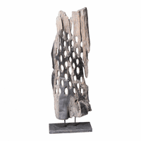 Moe's Home Furniture Wood Abstract Art Weathered Grey