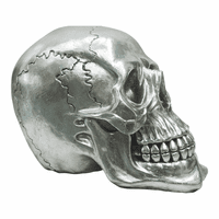 Moe's Home Furniture Yorick Skull Gun Metal