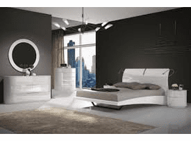Moonlight Bedroom Set, Gray | Creative Furniture