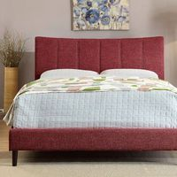 ENNIS BED RED FABRIC QUEEN  CM7678RD