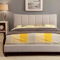 ENNIS BED BEIGE FABRIC QUEEN  CM7678BG