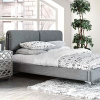 DUHR BED , GREY FABRIC QUEEN CM7551