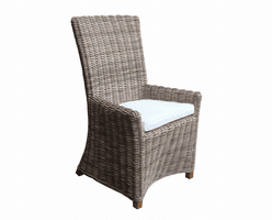 Nico Arm Chair Kubu-with White Cushion