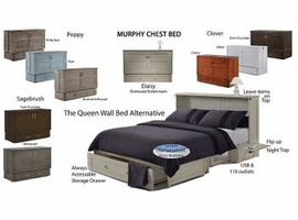 Night & Day Furniture Murphy Bed Cabinet Bed Wall Bed