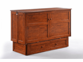 Night & Day Furniture CLOVER Murphy Cabinet Bed Cherry