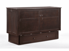 Night & Day Furniture CLOVER Murphy Cabinet Bed Chocolate