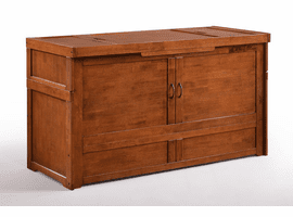 Night & Day Furniture Murphy Cube Cabinet Bed Cherry