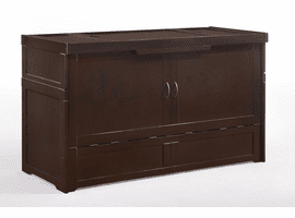 Night & Day Furniture Murphy Cube Cabinet Bed Chocolate