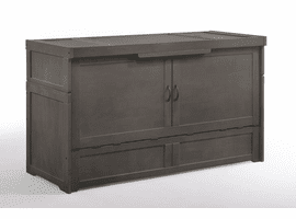 Night & Day Furniture Murphy Cube Cabinet Bed Stonewash
