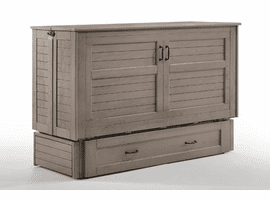 Night & Day Furniture Poppy Murphy Cabinet Bed Brushed Driftwood