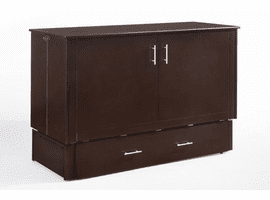 Night & Day Furniture Sagebrush Murphy Cabinet Bed Dark Chocolate