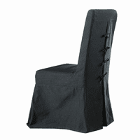 Pacific Beach Dining Chair Slipcover - Black