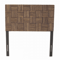 Plaid Low Headboard - Twin - Abaca Twist