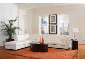 Quinn Modular Sectional Sofa 6Pc White Bonded Leather
