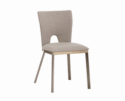 Reid Dining Chair - Biscotti Brown Fabric