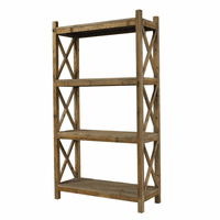 Salvaged Wood Cross Rack Book Case