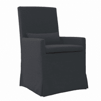 Sandspur Beach Arm Dining Chair With Casters - Charcoal Grey