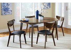 Scandinavian  Expandable Dining Table & 4 Chairs