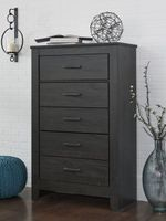 CLEARANCE ASHLEY FIVE DRAWER BLACK CHEST B-24946