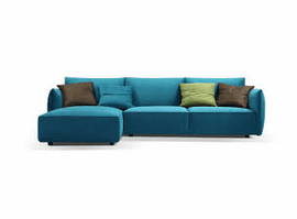 Skylar FABRIC Sectional Sofa by Creative Furniture