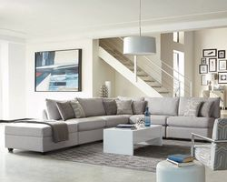 Cambria  Modular  Sectional Sofa 6Pc 551511 in Grey Fabric 6PC