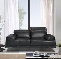 J & M Furniture Nicolo Love Seat in Black