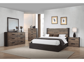 Weston Weathered Oak And Rustic Coffee Platform Bedroom Set