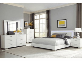White King Felicity White King Platform Bed Set