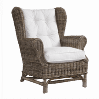 Wing Chair- Kubu-with White Cushion