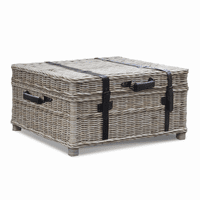 Woven Coffee Table Trunk
