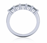 .75 Carat Emerald Cut Cubic Zirconia Shared Prong Anniversary Band
