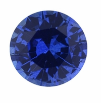 1.25 Carat 7mm Round Blue Sapphire Lab Created Synthetic Loose Stone