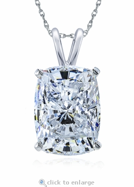 1.5 Carat Elongated Cushion Cut Cubic Zirconia Pendant