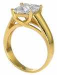 1.5 Carat Princess Cut Cubic Zirconia Criss Cross Trellis Solitaire Engagement Ring