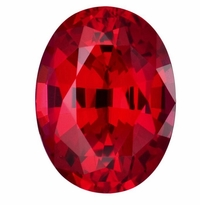 1 Carat 8x6mm Oval Ruby Lab Created Synthetic Loose Stone