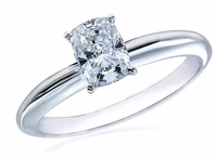 1 Carat Cushion Emerald Cut Cubic Zirconia Classic Solitaire Engagement Ring