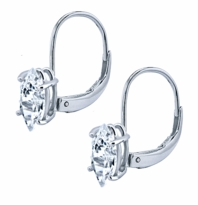 1 Carat Each Marquise Cubic Zirconia Leverback Earrings