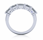 1 Carat Emerald Cut Cubic Zirconia Shared Prong Anniversary Band