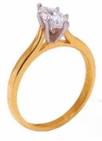 1 Carat Marquise Cubic Zirconia Cathedral Solitaire Engagement Ring
