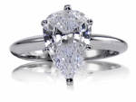1 Carat Pear Classic Solitaire Engagement Ring with Matching Band Wedding Set