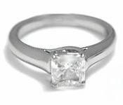 1 Carat Princess Cut Luccia Cubic Zirconia Trellis Criss Cross Solitaire Engagement Ring