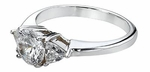 1 Carat Round with Trillions Cubic Zirconia Engagement Ring
