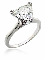 1 Carat Trillion Triangle Cubic Zirconia Cathedral Solitaire Engagement Ring