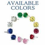2.5 Carat Each Oval Cubic Zirconia Stud Earrings