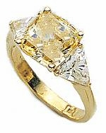 2.5 Carat Princess Cut with Trillions Three Stone Cubic Zirconia Engagement Ring