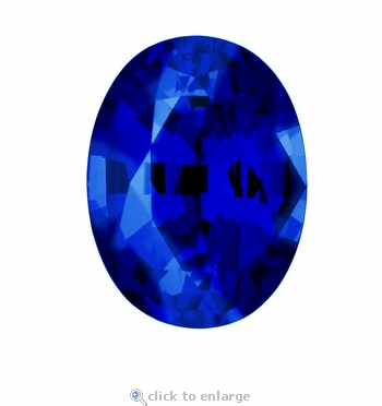 2.50 Carat 10x8mm Oval Blue Sapphire Lab Created Synthetic Loose Stone