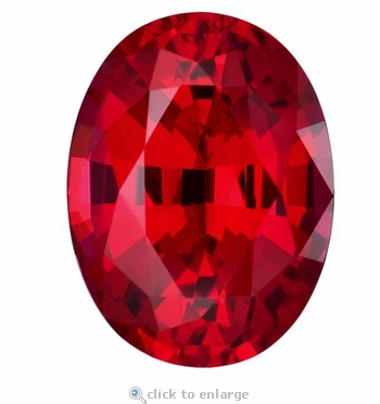 2.50 Carat 10x8mm Oval Ruby Lab Created Synthetic Loose Stone